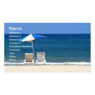 Bella arte fresca de las sillas de playa de la tarjetas de visita