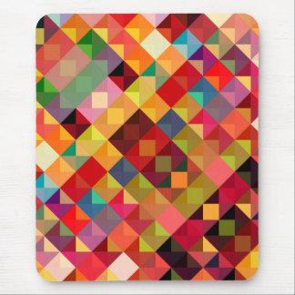 Bella arte geométrica colorida tapetes de ratón