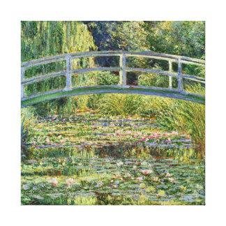 Bella arte japonesa de Claude Monet del puente