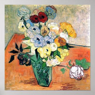 Bella arte japonesa de Van Gogh de las anémonas de