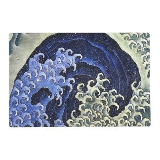 Bella arte japonesa del vintage de la onda tapete individual