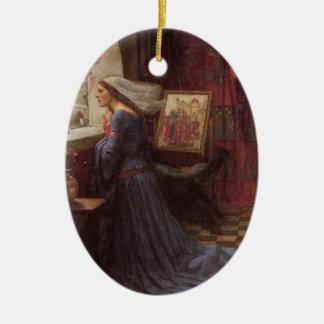 Bella arte justa de Rosamund Adorno Navideño Ovalado De Cerámica