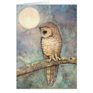 Bella arte manchada septentrional de la fauna del tarjeta de felicitación