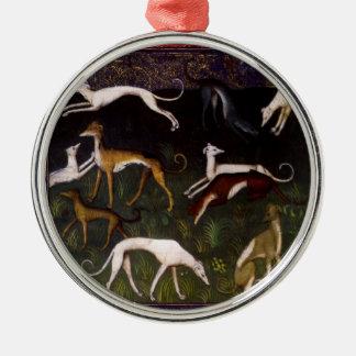 Bella arte medieval de los galgos adorno