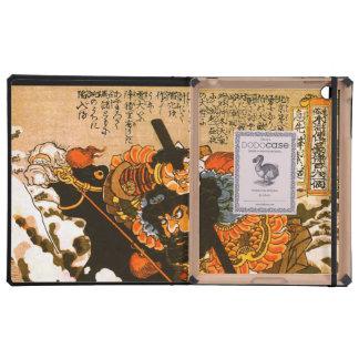 Bella arte negra de Kuniyoshi del semental de
