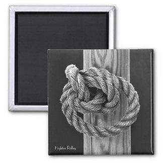 Bella arte, nudo de la cuerda imán cuadrado