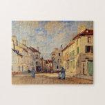 Bella arte Old Rue de la Chaussée Monet Rompecabeza Con Fotos
