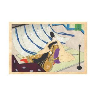 Bella arte oriental japonesa de Ebina Masao Genji Impresiones En Lona Estiradas