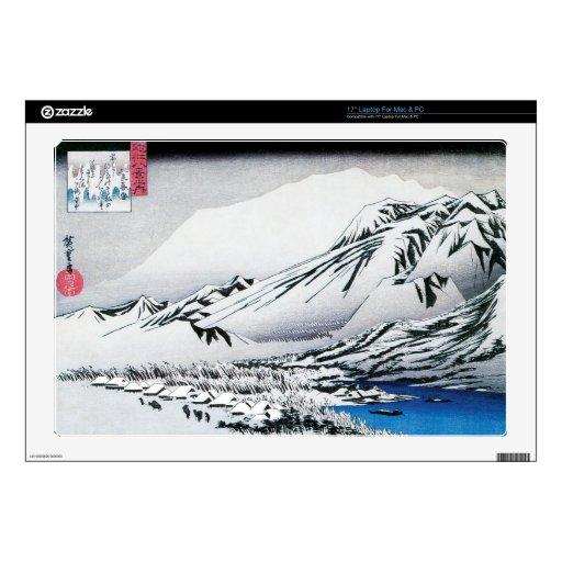 Bella arte persistente del japonés de la nieve skins para 43,2cm portátil