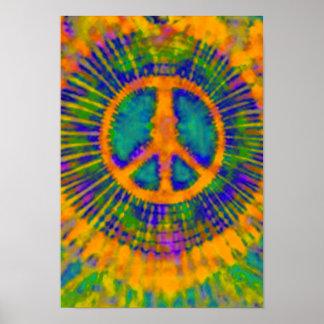 Bella arte psicodélica del signo de la paz del