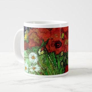 Bella arte roja de Van Gogh de las amapolas y de Taza Grande