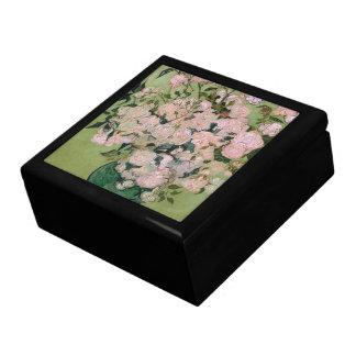 Bella arte rosada de los rosas de Van Gogh (F682) Caja De Recuerdo