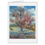 Bella arte rosada de Van Gogh del árbol de Tarjeta De Felicitación
