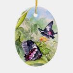 Bella arte tropical en peligro de las mariposas ornaments para arbol de navidad