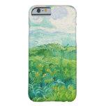 Bella arte verde de Auvers de los campos de trigo Funda De iPhone 6 Barely There