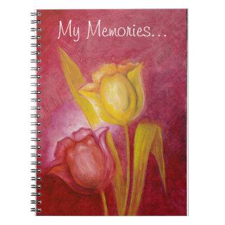 Bella arte vibrante de los tulipanes libro de apuntes