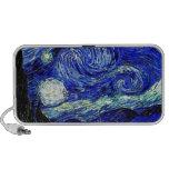 bella arte vVan de la noche estrellada de Gogh iPod Altavoces