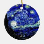 bella arte vVan de la noche estrellada de Gogh Ornamentos De Reyes