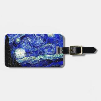 bella arte vVan de la noche estrellada de Gogh Etiquetas Para Maletas