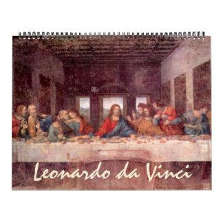 Bella arte y bosquejos de Leonardo da Vinci Calendarios De Pared