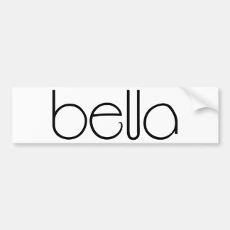 Bella black Bumper Sticker