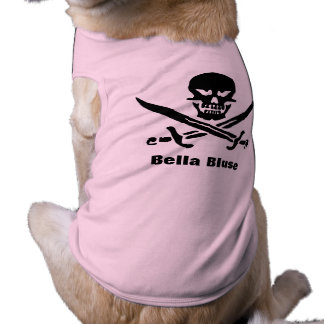 Bella blouse pirate shirt for your dog pet clothing
