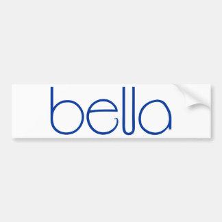 Bella blue Bumper Sticker Car Bumper Sticker