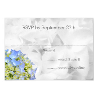 Bella Blue Hydrangea Wedding RSVP Cards