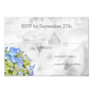 Bella Blue Hydrangea Wedding RSVP Cards