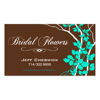 Bella Bridal Floral Arrangements Special Thanks Business Card