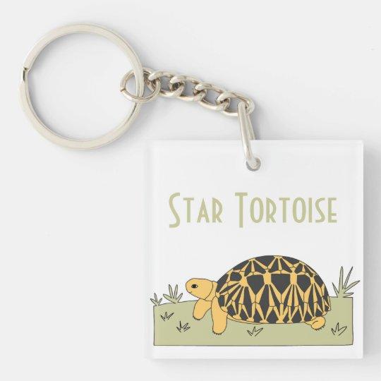 Bella Burmese Star Tortoise Keychain (grass)
