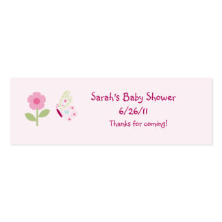 Bella Butterfly & Flower Favor/Tags Mini Business Card