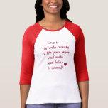 Bella de las mujeres+Camiseta del raglán de la Playera