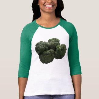 Bella de las mujeres del bróculi 3/4 camiseta del poleras