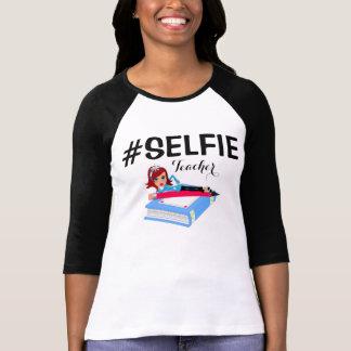 Bella de las mujeres del #SELFIE 3/4 camisa con