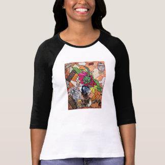 Bella de las mujeres frescas 3/4 camiseta del