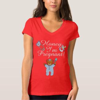 Bella de los *HoneyWomen+Camiseta del cuello en v Playera