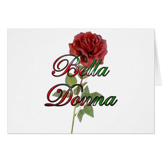 Bella Donna (Beautiful Lady) Card