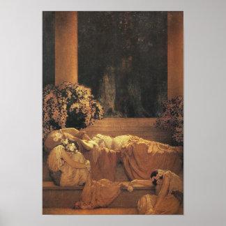 Bella durmiente, bella arte de Maxfield Parrish