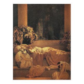 Bella durmiente, bella arte de Maxfield Parrish Postales