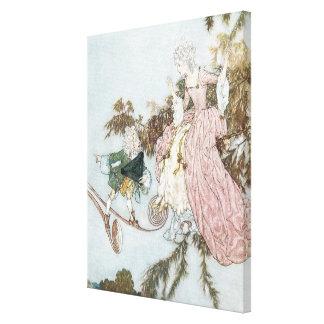 Bella durmiente del cuento de hadas del vintage de impresiones en lienzo estiradas