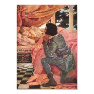 """Bella durmiente del vintage de Jessie Willcox Invitación 5"""" X 7"""""""