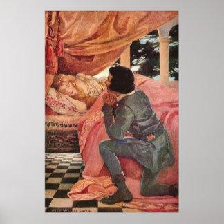 Bella durmiente del vintage de Jessie Willcox Póster