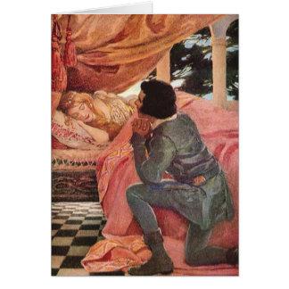 Bella durmiente del vintage de Jessie Willcox Tarjeta De Felicitación