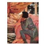 Bella durmiente del vintage de Jessie Willcox Tarjeta Postal