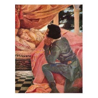 Bella durmiente del vintage de Jessie Willcox Postal