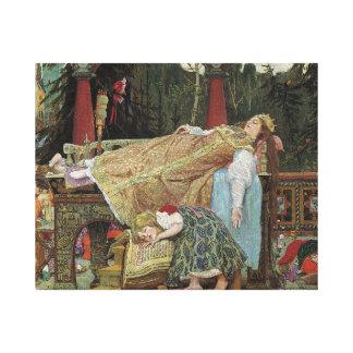 Bella durmiente en el pabellón impresión en lienzo