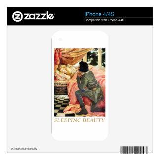 Bella durmiente iPhone 4 skin