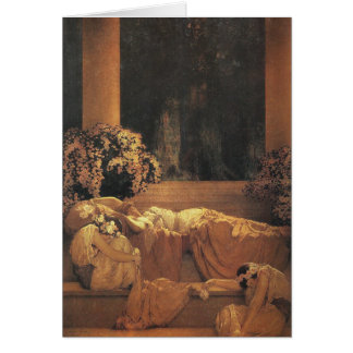 Bella durmiente, Maxfield Parrish Tarjeta Pequeña