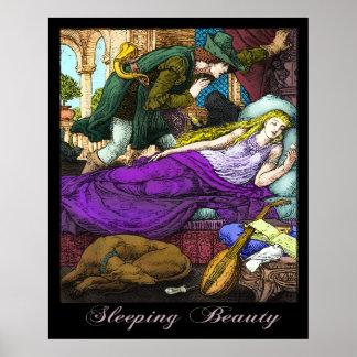 Bella durmiente por la grúa de Gualterio Póster